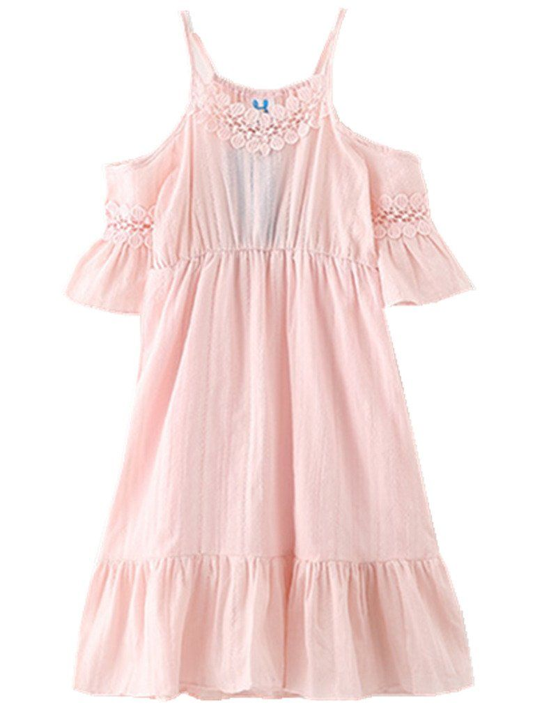 3cc7576542f Happy Rose Flower Girls Dress Beach Cotton Pink 12. Made of high quality  Cotton and