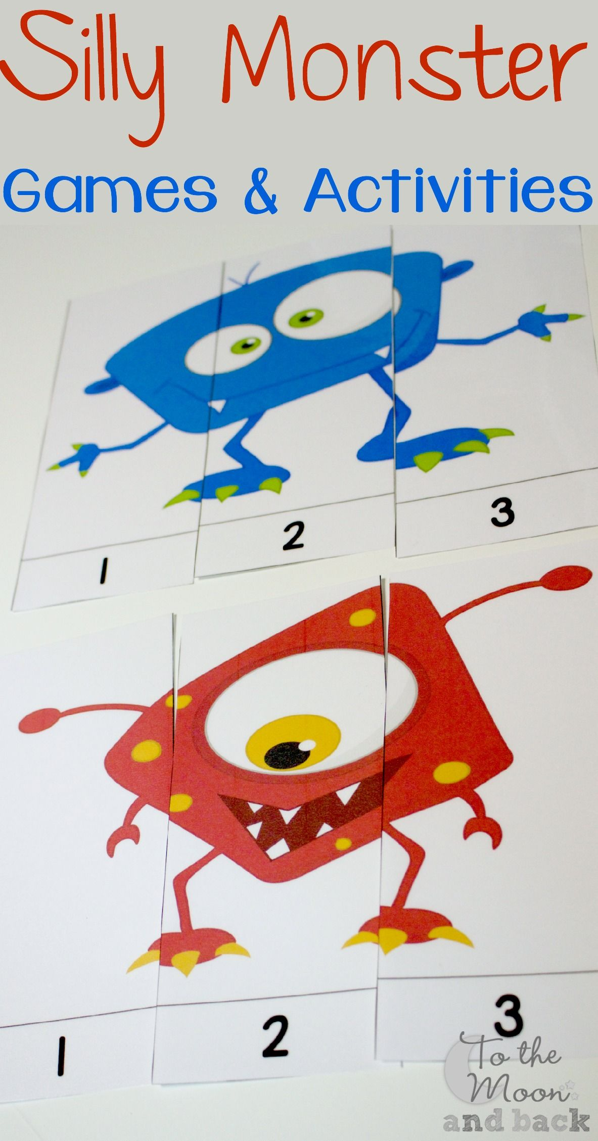 These Silly Monster Puzzles Are Great For Toddlers Or For