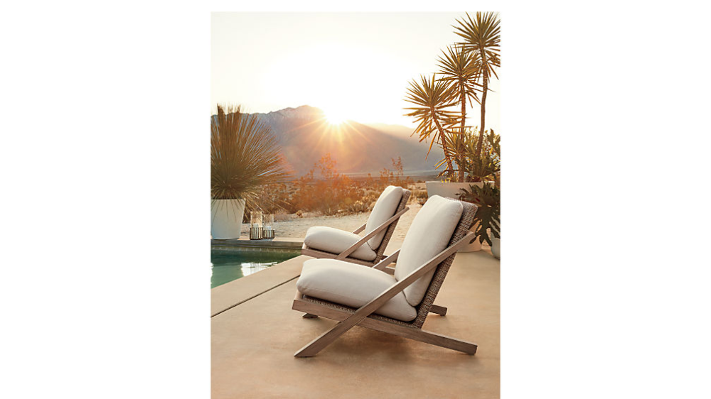 Lecco Teak Outdoor Chair + Reviews | CB2