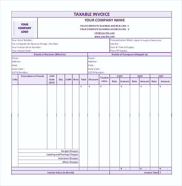 simple gst invoice format in pdf1 simple invoice template word