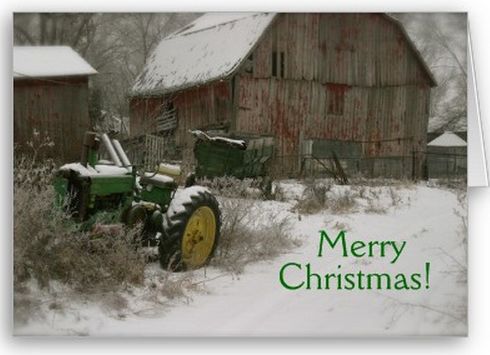Posts About Farm Scene On Tractor Christmas Cards