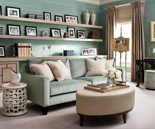 Best Blue Turquoise Aqua Linen Brown Living Room Sea 400 x 300
