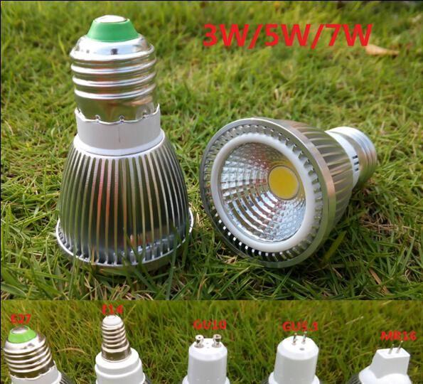 Bombillas LED E27 GU10 MR16 E14 Spotlight Lighting Bulbs