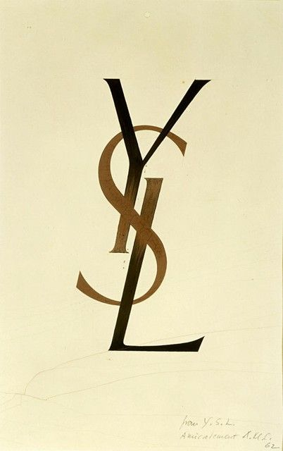 The legendary YSL logo was designed in 1963 by Adolphe Jean-Marie Mouron a/k/a Cassandre