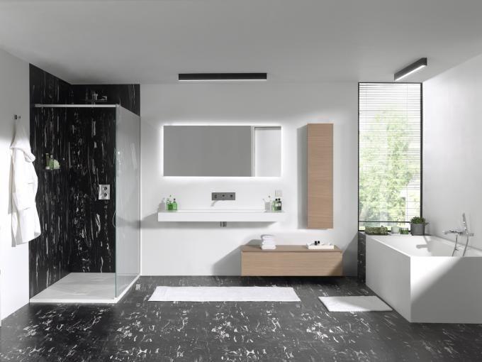 X²O Balmani Mitra Elements badkamermeubel eik / meuble salle de - salle de bain meuble noir