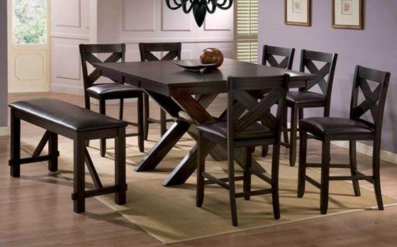 X Factor 5 Piece Dining Set Style Counter Height Dining Table