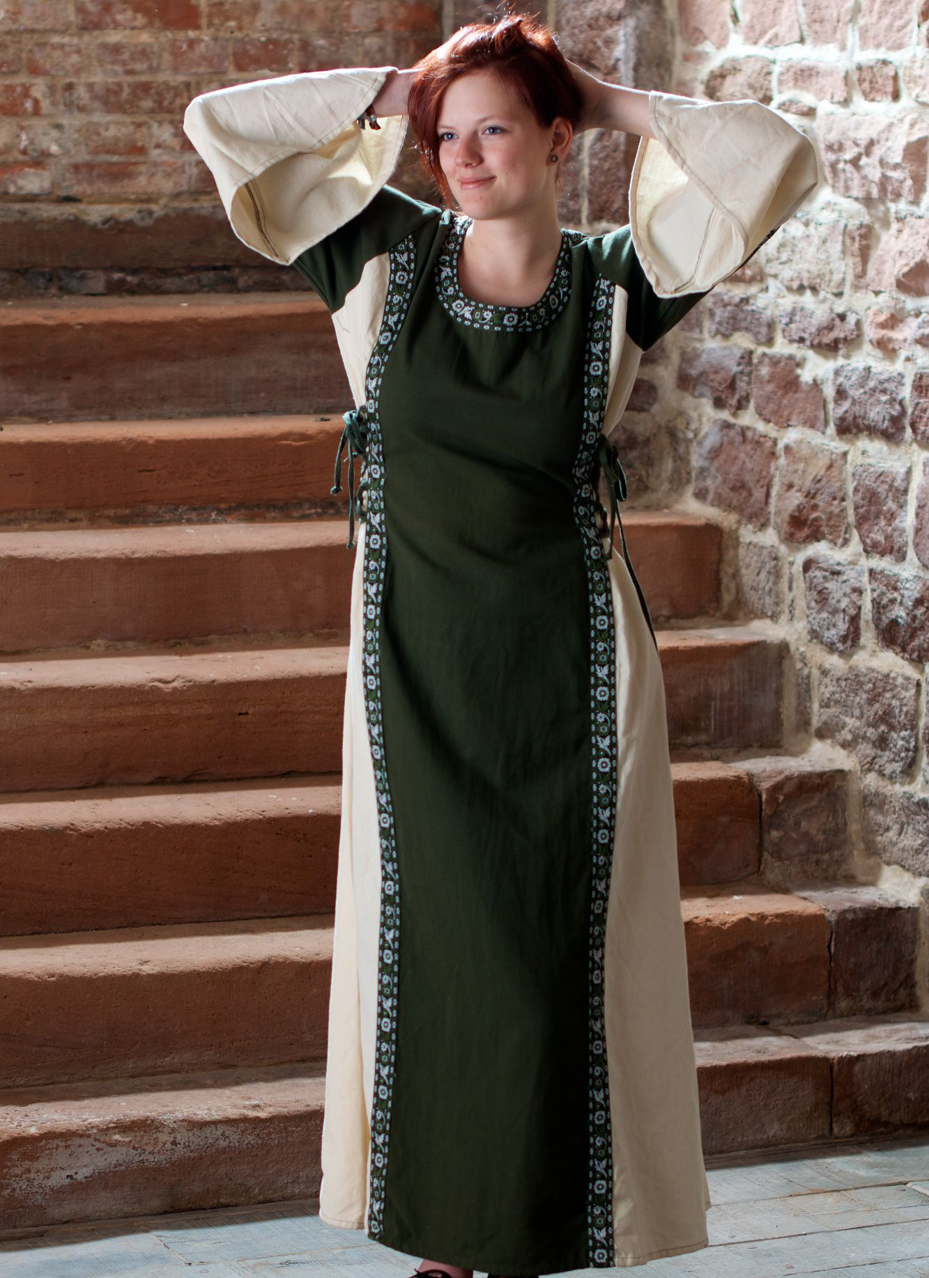 "Kleid ""Klarissa"" grün-natur | Robe, Idées de mode"