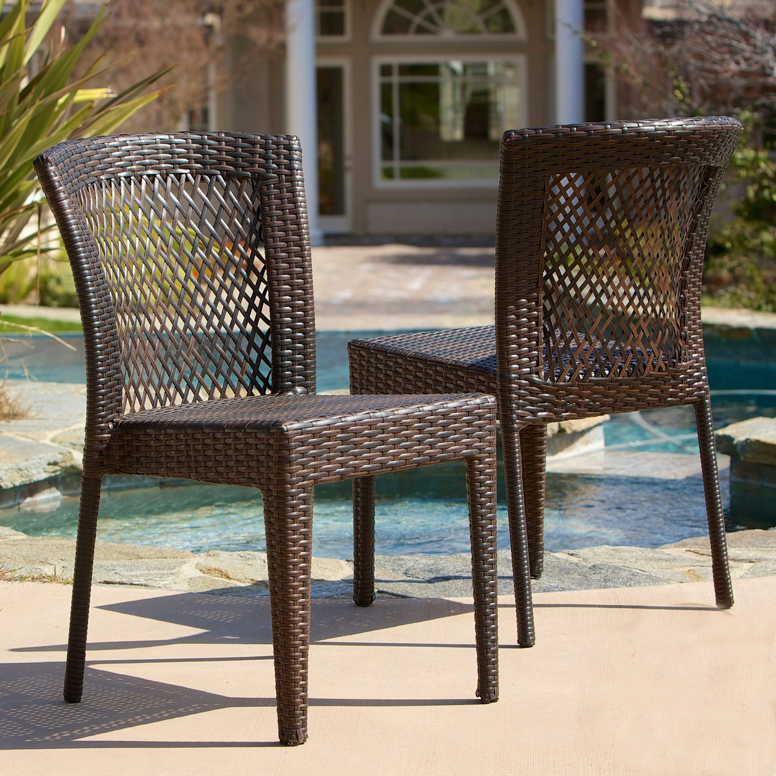 Dusk Outdoor Wicker Chair Set By Christopher Knight Home Grey Set Of 4 Gray Iron Patio Dining Chairs Wicker Dining Chairs Outdoor Wicker Chairs Wicker Patio