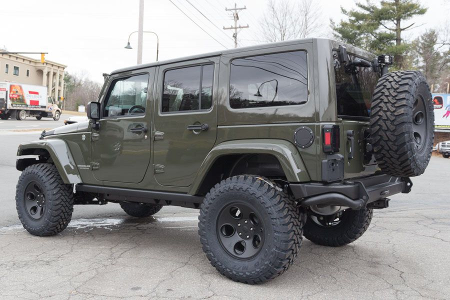 Forest Green Jeep Wrangler Rubicon 2015 Jeep Pickup Truck 2015
