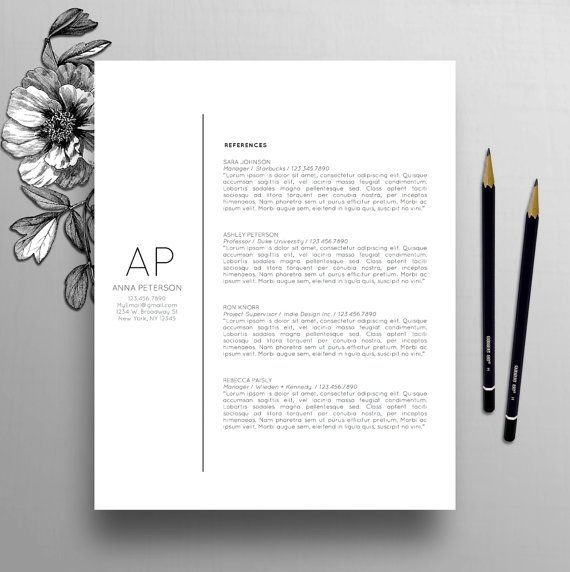 Professional Resume Template Cover Letter Template Resume