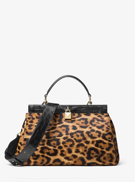 bcb9f9c5935c Gramercy Leopard Calf Hair Frame Satchel | BAG LADY - FALL and ...