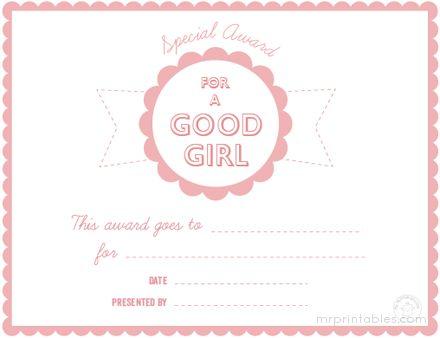 free printable certificates awards for kids for good behavior and kindness