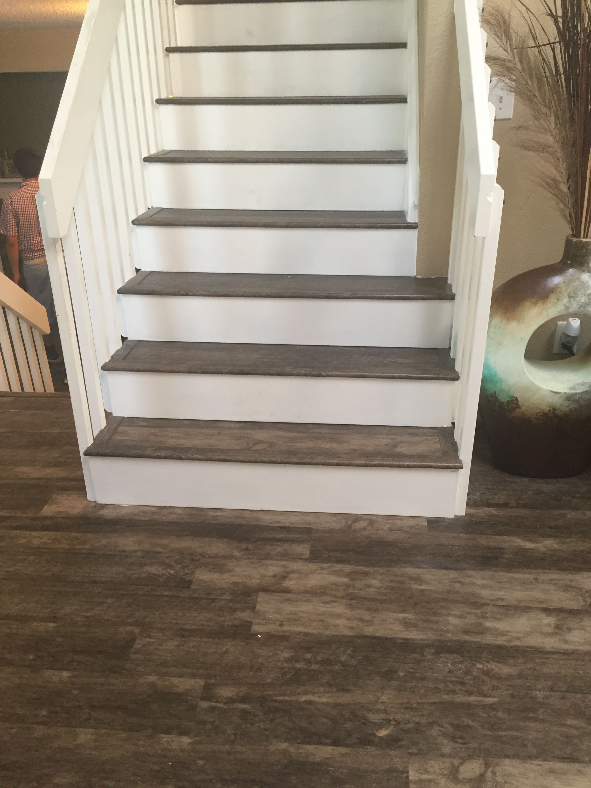 Lvp Floors And Stairs By Custom Flooring Specialists Wood Floor Stairs Luxury Vinyl Plank Flooring Stairs