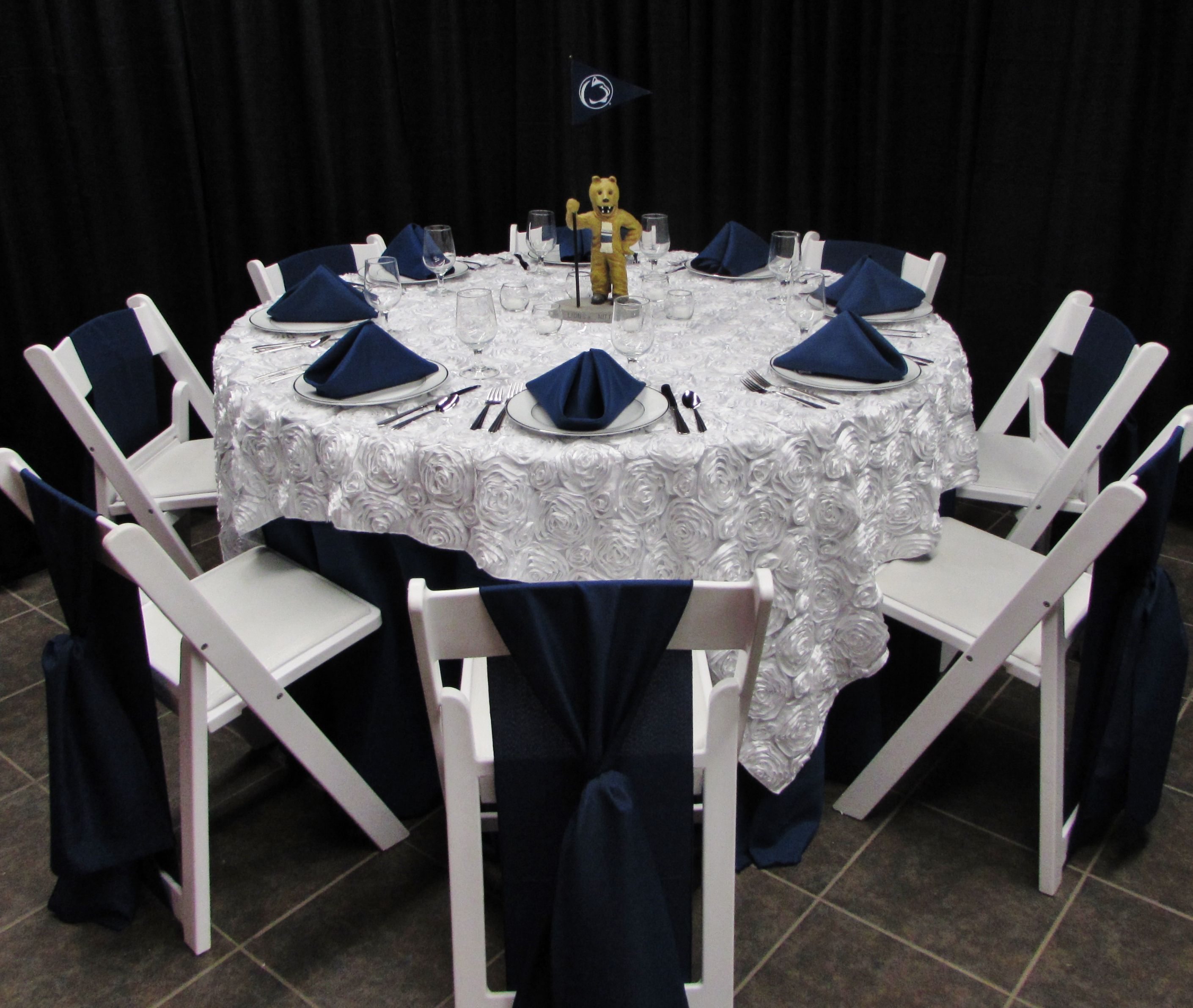 We Love The Soft Elegant Textures With This White Rosette Table