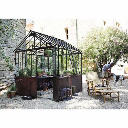 gew chshaus aus metall mit rosteffekt h 252 cm tuileries. Black Bedroom Furniture Sets. Home Design Ideas