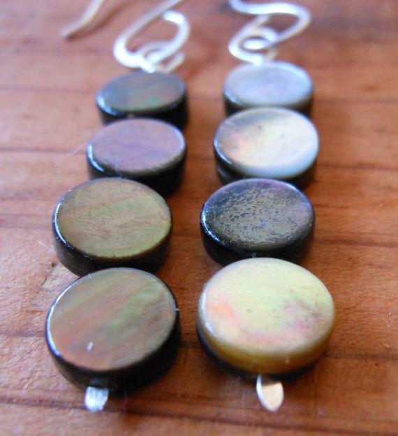 Smokey Abalone Earrings Sterling Silver Earrings by jayesjewellrey, $22.00