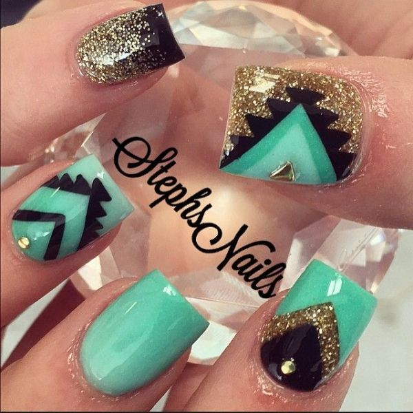 Wait Till You See These 44 Tribal Nail Art Patterns ... | My Style ...