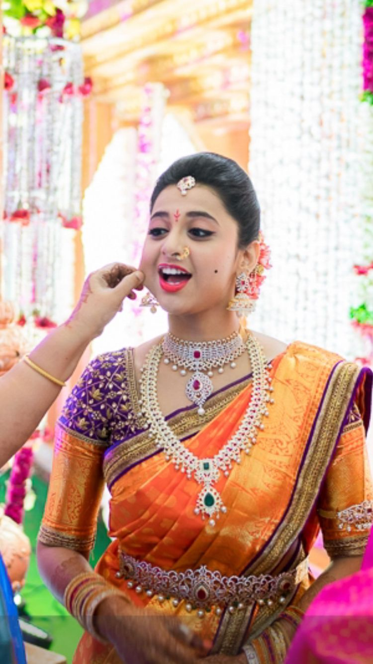Telugu Bride Tamil Bride Diamond Bridal Jewellery Kanchi ...