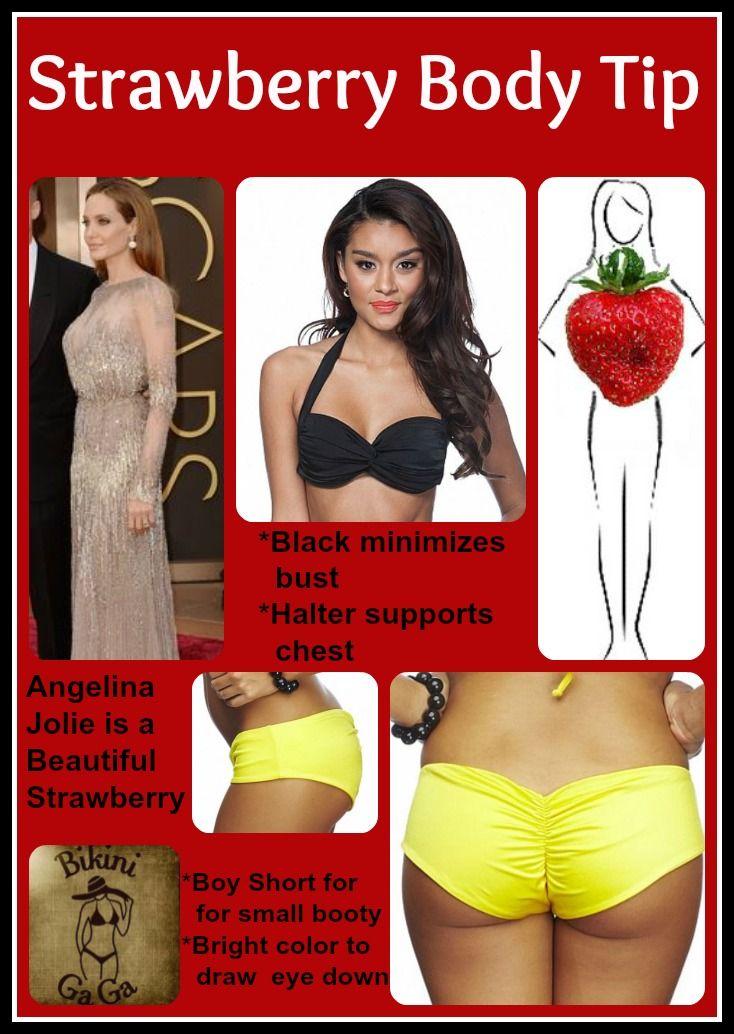 044e3e5202 Inverted Triangle or Strawberry Body Type. See how to create balance in a  bikini.