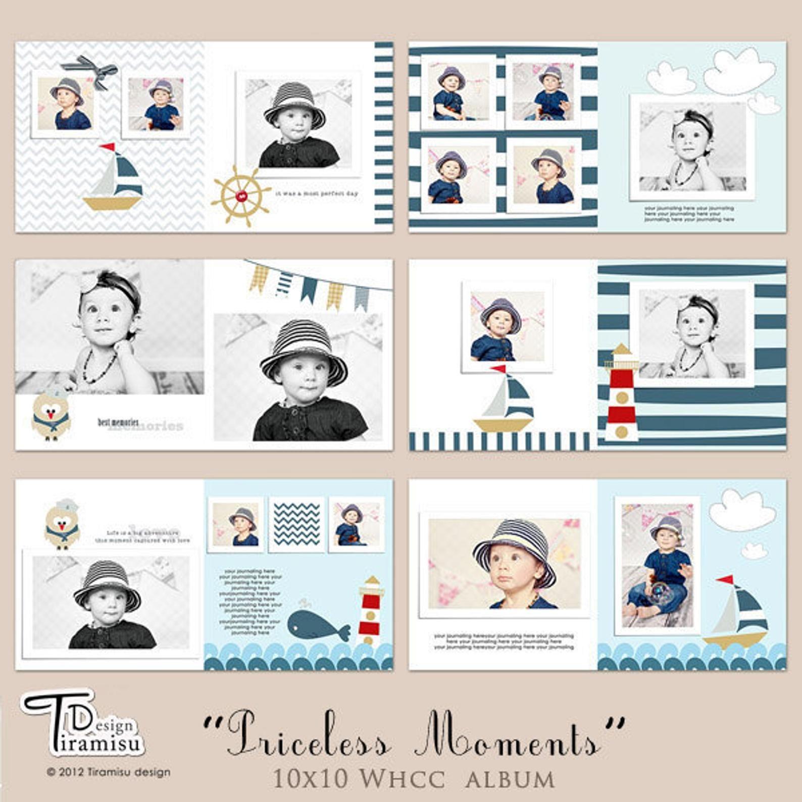 Baby Album Vorlagen Baby Fotobuch Vorlagen Fur Photoshop Etsy Kids Photo Album Photo Album Book Baby Photo Album