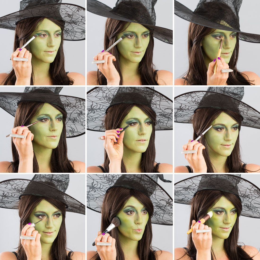 Diy halloween witch makeup hallowen halloween makeup 101 turn yourself into a witch tutorials solutioingenieria Image collections