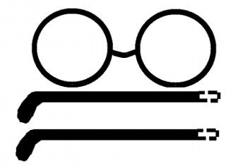 Unusual image regarding harry potter glasses printable