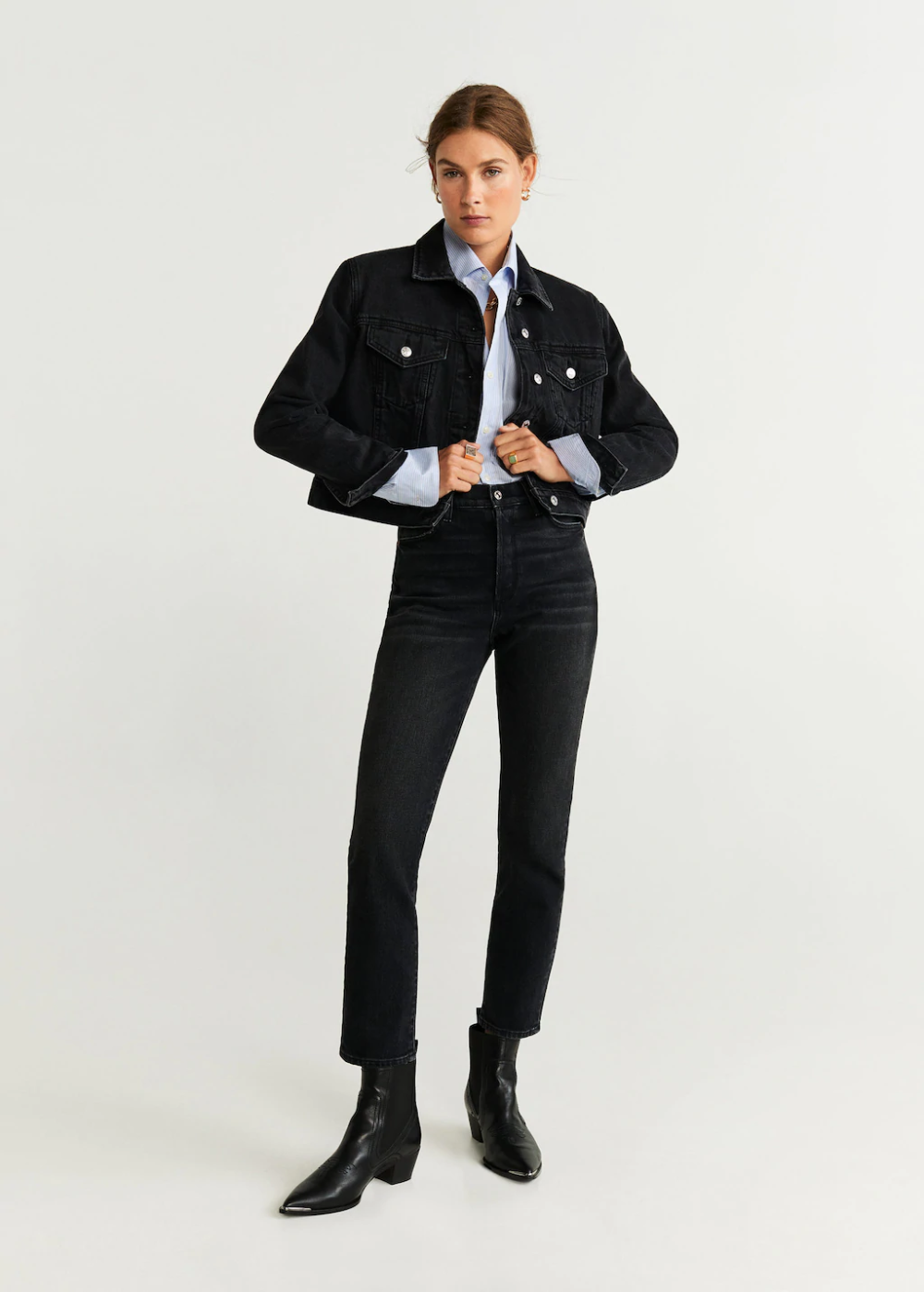 Jeans High Waist Slim Women Mango United Kingdom 2020 Denim Fashion Yuksek Bel Skinny