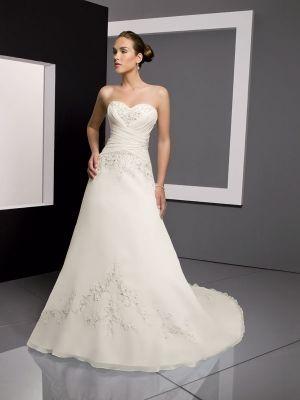 69cfdec2d191 Buy Attractive White A-line Sweetheart Neckline Wedding Dress under 300 -SinoAnt.com