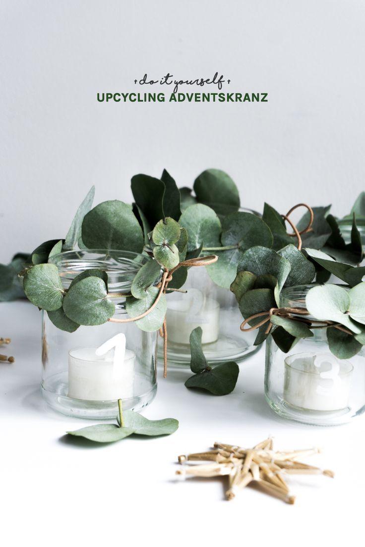 Photo of Ghirlanda dell'avvento fai-da-te – un'idea di riciclaggio con vetro vecchio