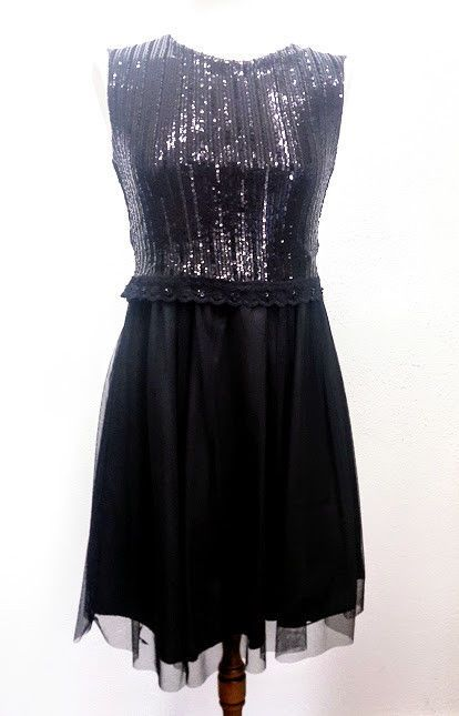Kleid mit Pailletten schwarz 36 #fashion #sale #shoppen # ...
