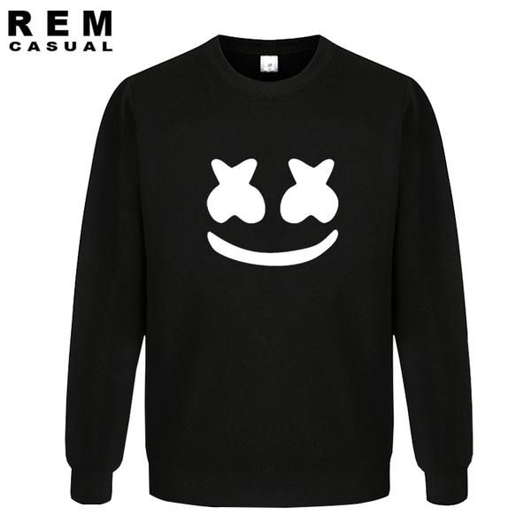 #BestPrice #Fashion New Arrived marshmello face men casual homme cotton tops plus fashion long sleeve Hoodies, Sweatshirts