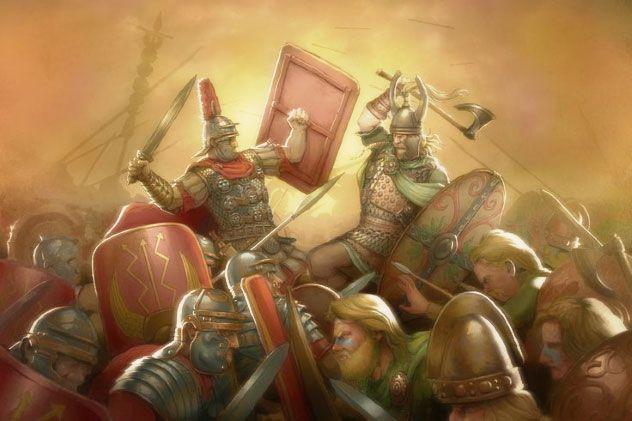 Emboscada romana a los celtas