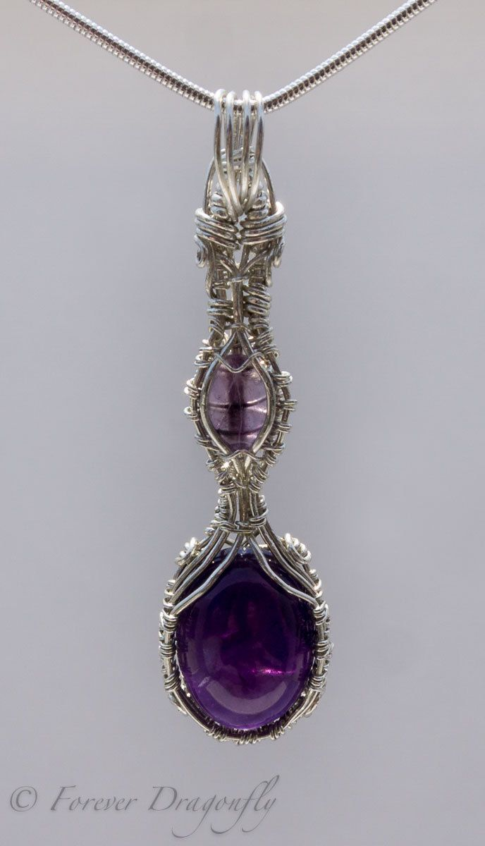 stone res rickis rhodium necklace purple hi icy violet