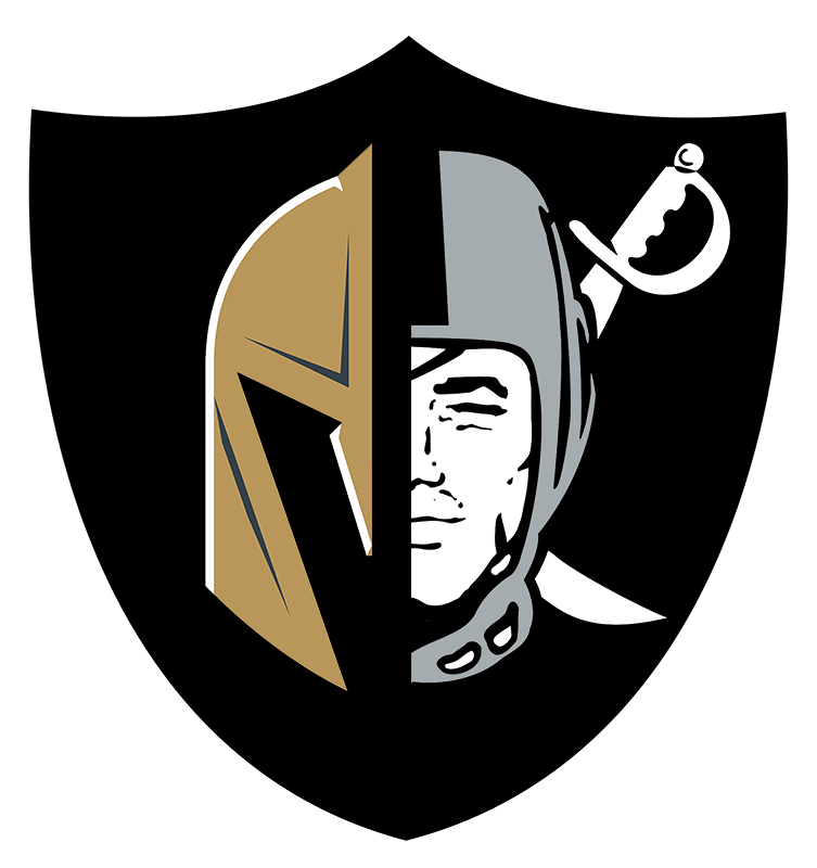 Las Vegas Golden Knights and Raiders Hybrid Logo | Vegas ...
