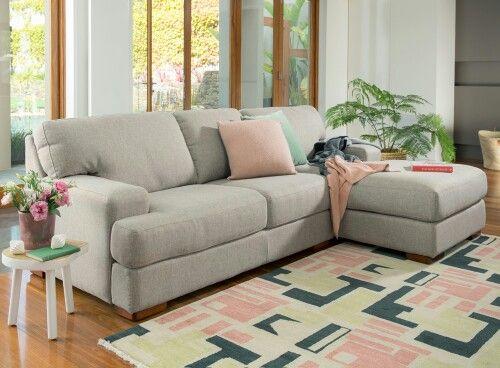 Plush Sofa Chaise 3 Seater Lounge