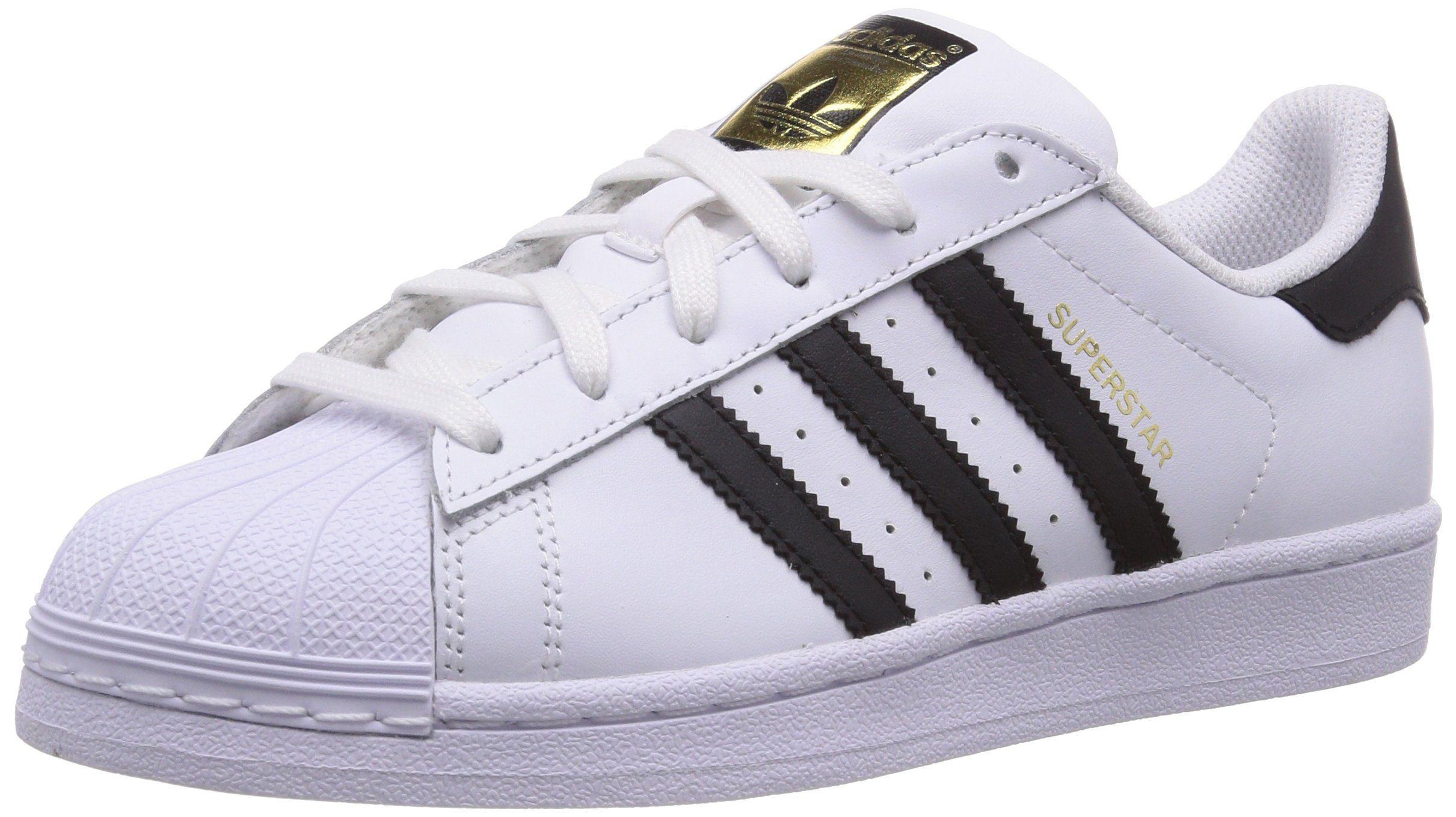 adidas Originals Superstar C77154, Unisex-Kinder Low-Top Sneaker, Weiß (Ftwr Weiß/Core Schwarz/Ftwr Weiß), EU 39 1/3