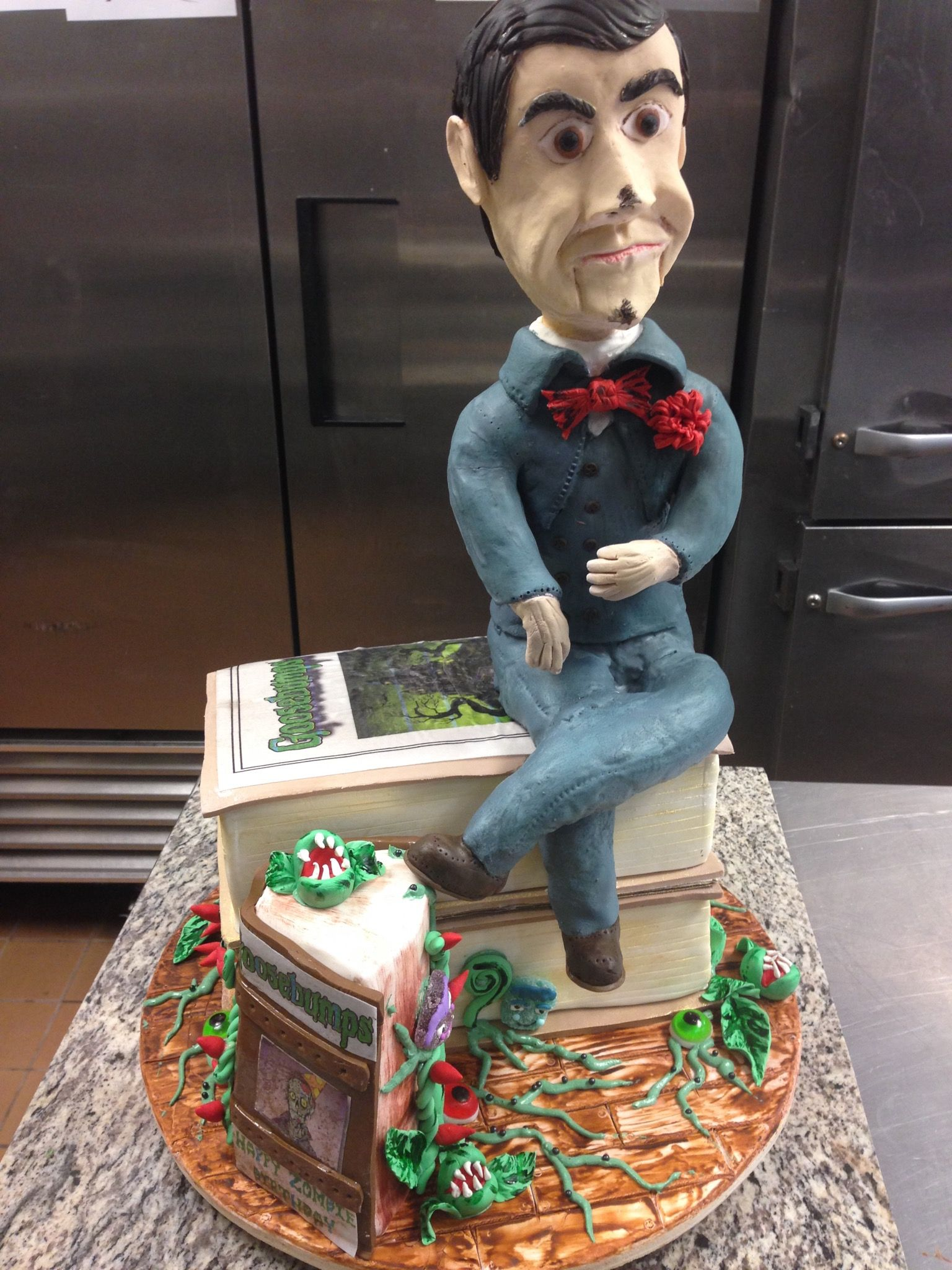"""Our special Halloween Goosebumps birthday cake Slappy in """"Night of"""