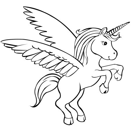 Paper Time Step by step Instructions To Draw Unicorns With Wings