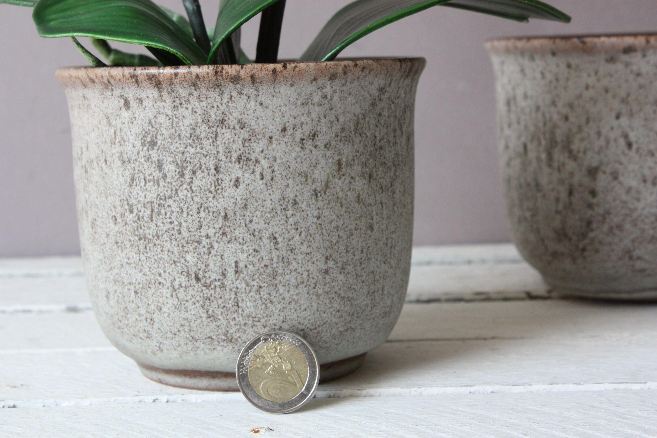 1 Small Scheurich Planter Ceramic 60s 70s Vintage Flower Pot West German Flowerpot Retro Gift Girlfriend Wife Vintage Flower Pots Flower Pots Decorated Flower Pots