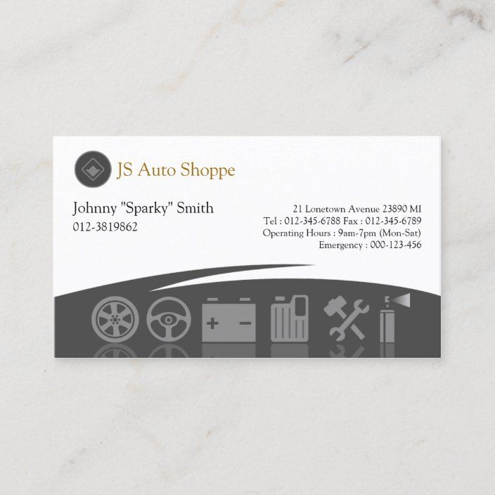 Car Service Icons Black Business Card Zazzle Com In 2021 Black Business Card Business Card Template Design Business Cards