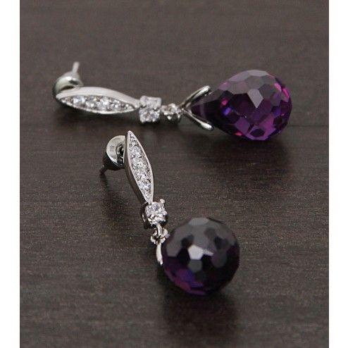 Silver Embellished Earring
