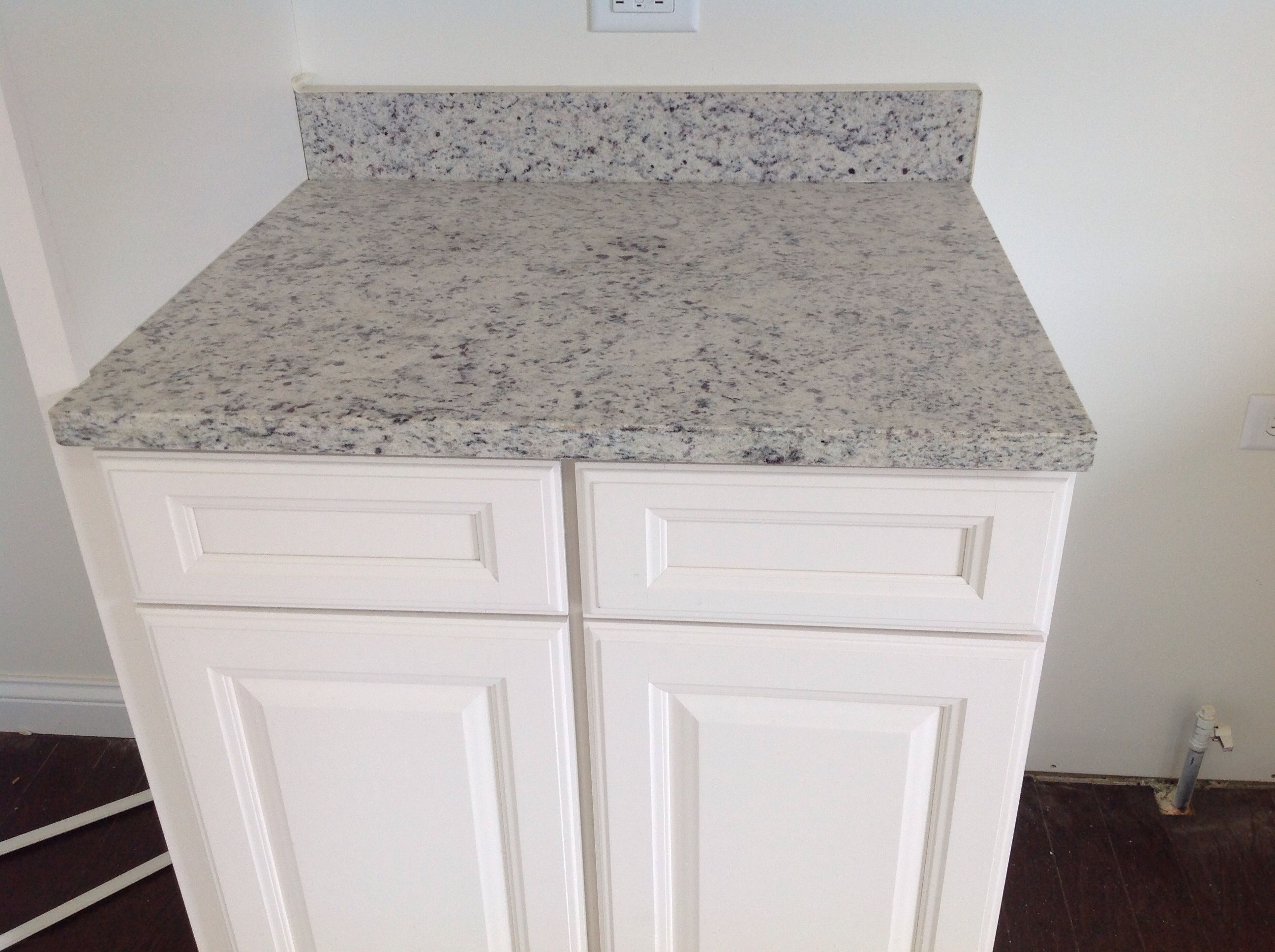 Dallas White Granite And White Cabinets...this Is What Is Going Into Our