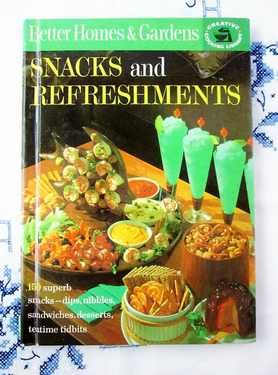 Better Homes & Gardens Snacks and Refreshments Cookbook, Vintage Cookbook, Mid-Century Cookbook, Retro Recipes by BeachCottageKitchen on Etsy, $8.00
