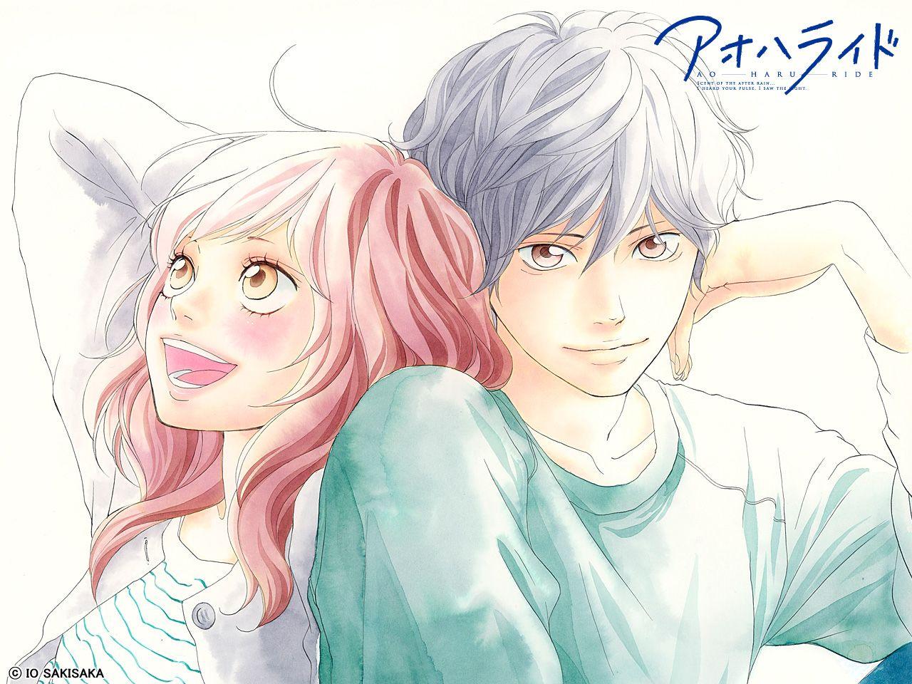 Shoujo Manga Romance Genre Anime Wallpaper Ao Haru Ride Aoharaido Blue Spring Ride Mabuchi Kou Yoshioka Futaba Cute Anime Couple Cute Anime Girl Boy Jpg