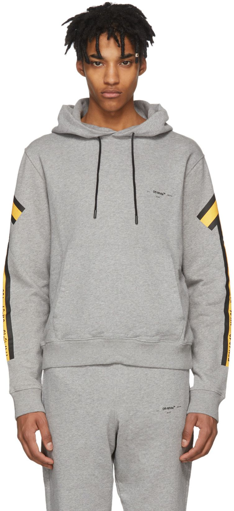 c539c073bed4 Off-White  Grey   Yellow Arrows Hoodie