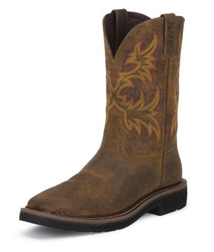 Men's JUSTIN BOOTS RUGGED TAN COWHIDE WK4681 Justin Boots. $114.94