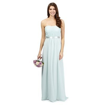 Debut Sophia Light Green Ruched Evening Dress