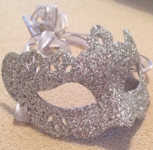 Masquerade Ball Mask. Silver Glitter Womens Mask. Fancy Dress. in Clothes, Shoes & Accessories | eBay