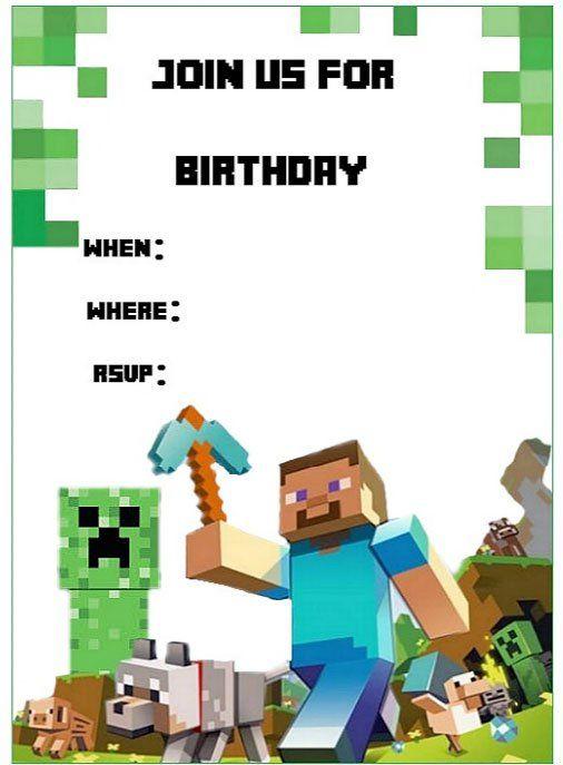 Cumpleanos Minecraft Con Imprimibles Gratis Fiesta Cumpleanos