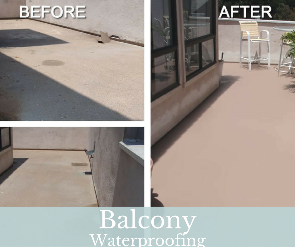 Most Of The Balcony And Terrace Consists Of Concrete Elements Where The Lack Of An Effective Waterproof Membrane Wil Balcony Flooring Balcony Repair Balcony